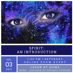 Spirit: an introduction - ONLINE Workshop